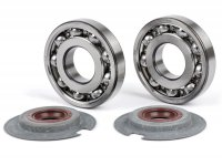 Bearing and oil seal set for crankshaft -BGM PRO FKM/Viton® (E10/etahnol resistant)- Vespa Wideframe VM, VN, VL, VB, GS150 / GS3 (VS1T - VS5T, VDTS), VD1, VD2, Largeframe VNA1, VNA2 (VNA2M, -091392), VBA (VBA1M, -313583)