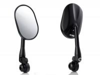 Pair of mirrors -HD CORSE aluminium CNC, handlebar ends- matt black