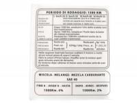 Einfahrvorschrift -LAMBRETTA- LI, LIS, SX 150 - italienisch, Beinschild