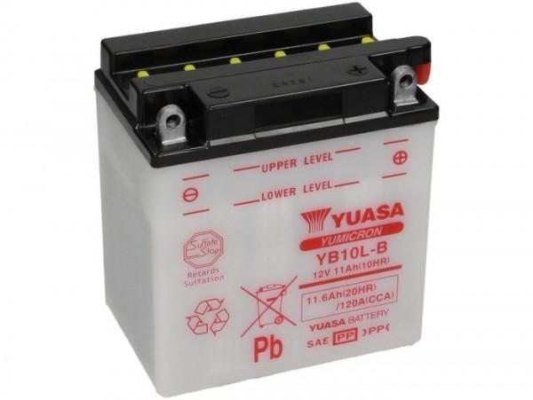 Batterie -Standard YUASA YB10L-B- 12V, 11,6Ah - 135x90x145mm (ohne Säure)