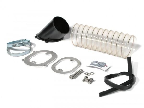 Ansaugschlauch-Adapter -MRP Dumbo Ø60mm (Keihin PWK 33-38mm, Mikuni TMX 35, Polini 32/34, Dellorto PHBH 28/30, VHSH 30)- Vespa PX, T5, Sprint, Rally, GT, GTR, GL150, Super, VNA, VNB, VBA, VBB