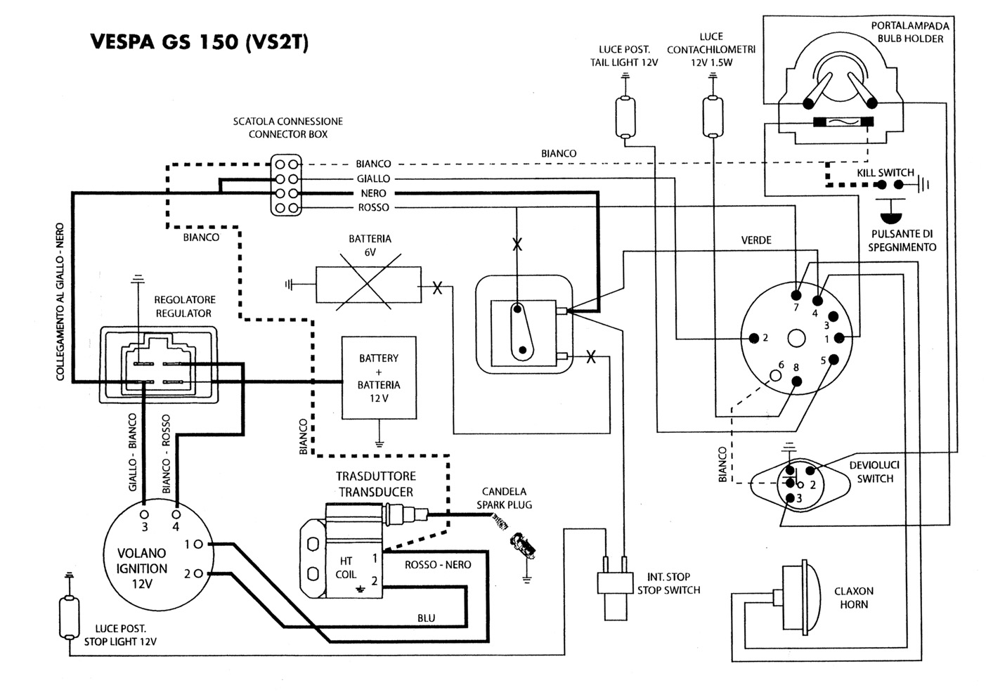Vespatronic Wiring Diagram Golden Schematic Vespa Pts Schaltplan Gs 150 Vs2 7673024
