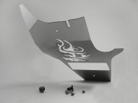 Rear undertray trim -DF OPTICPARTS dragon- Gilera Runner (2006-) - polished