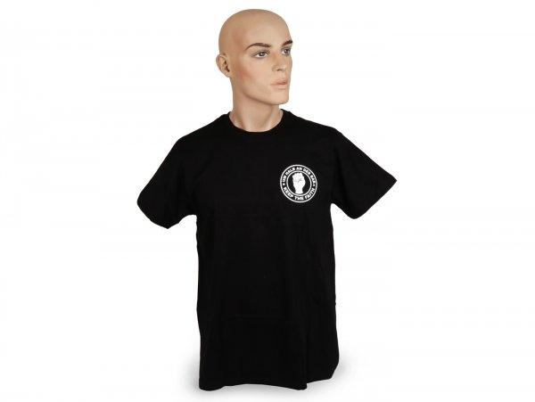 Maglietta girocollo -Um halb an der Bar- S