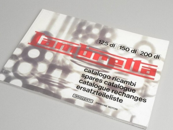 Catalogue des pièces de rechange -LAMBRETTA- GP & DL-