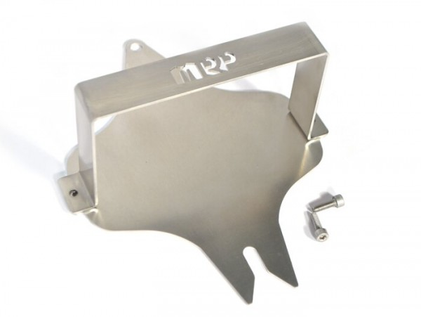 Jerrycan bracket (Fuel Friend BIG 2000ml) for spare wheel carrier, front -MRP- Vespa Smallframe, Largeframe 10 inch