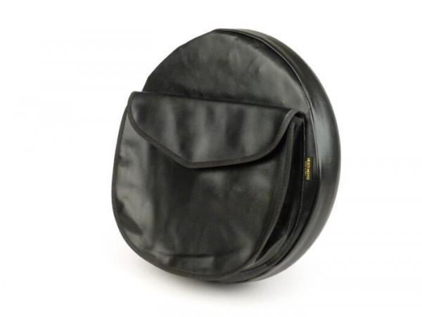 Reserveradhülle -VESTIMOTO- Vespa / Lambretta 3.50 - 10- Schwarz, mit Tasche