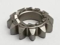 Piñón arranque -PIAGGIO- Vespa P 125X (-146313), P 150X/E (-264564), Sprint150 (VLB1T), GT125 (VNL2T), GTR125 (VNL2T), GL150 (VLA1T), GS160 / GS4 (VSB1T), SS180 (VSC1T) - 12/12 dientes, Ø=21,8mm