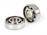 Ball bearing set for crankshaft -MALOSSI- 6202C3  (15x35x11mm) - used for Kurbelwelle Piaggio Ciao, Bravo, Boxer