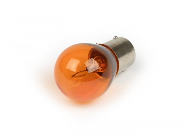 Ampoule -BA15s (pointes en face, baïonnettes) - 12V 21W - orange