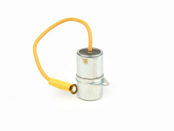 Kondensator -PIAGGIO, Ø=20mm, h=34,7mm, µF 0,34,  1-Kabel- Vespa Wideframe VM, VN, VL, GS 150 / GS3 (VS1T bis VS5T)