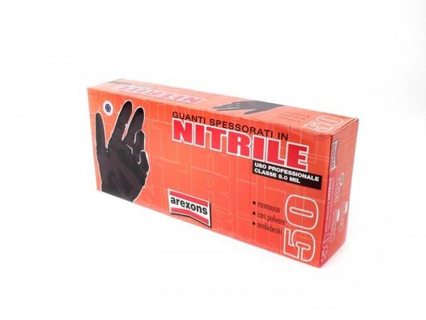 Gants mécanicien -AREXONS nitrile extra fort - noir - 50 unités - M
