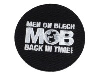 Aufnäher -MOB – Men on Blech – back in time-