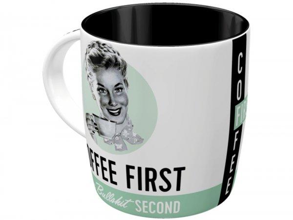 "Mug -Nostalgic Art- ""Coffee First"", Ø=85mm x 90mm, 340ml"