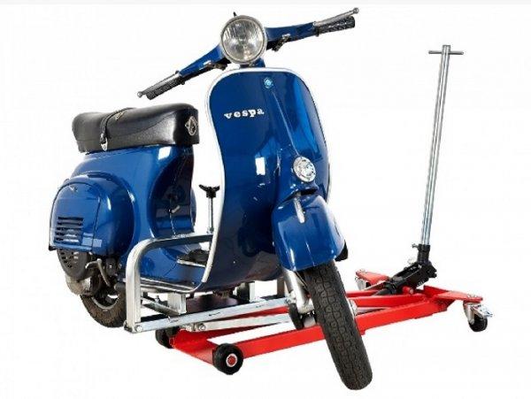 Scooter lift -FA ITALIA Vespa- Vespa Smallframe, Largeframe, Wideframe 50-200cc - 360° turnable, up to 350kg load, lift area 25-100cm