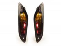 Pair of indicators -POWER 1 LED (E-mark)- Vespa Primavera, Sprint - smoked -rear - smooth lens