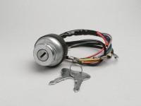Ignition switch -LAMBRETTA- LI (series 3), LIS, SX, TV (series 2-3), DL, GP - models with battery