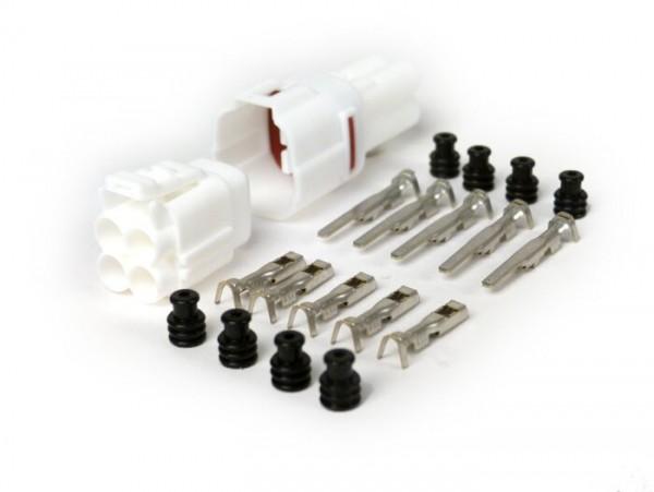 Stecker-Set für Kabelbaum -BGM PRO- Typ Serie 090 SMTO MT Sealed, Bihr, 4 Steckkontakte, 0.85-1.25mm², Wasserdicht-
