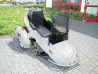 Sidecar -VESPA con freno propio, forma de zepelín- plateado