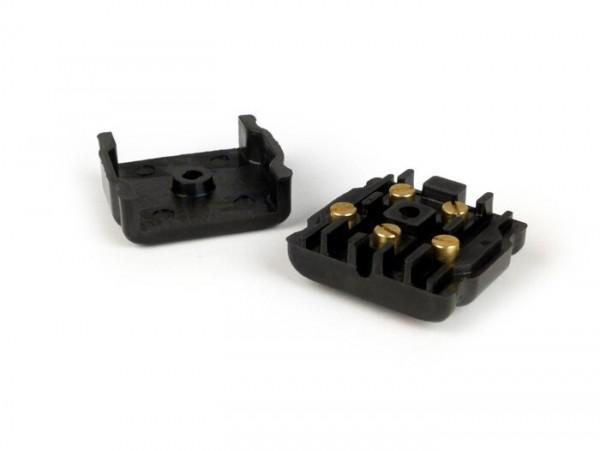 Kabelkästchen Motor -MADE IN VIETNAM- Vespa GS160 / GS4 (VSB1T), SS180 (VSC1T) - inkl. Schrauben