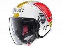 Helmet -NOLAN N21 Visor Flybridge- jet helmet, metallic white - M (57-58cm)