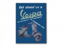 "Magnet for fridge -VESPA, 5x6cm- ""Get ahead on a Vespa"""