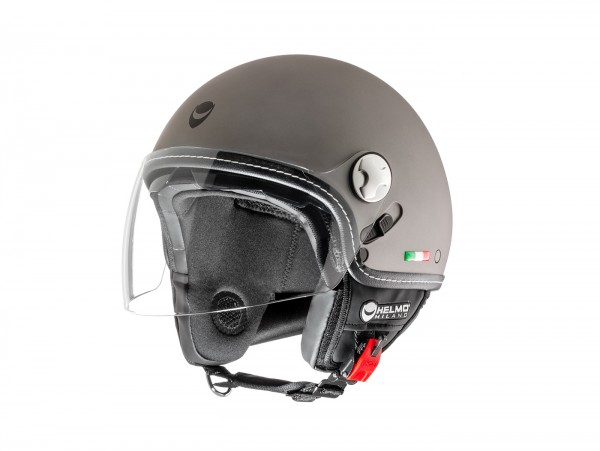 Helm -HELMO MILANO- Demi Jet, Eos, rubber anthracite - L (58cm)