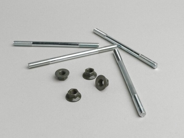 Stehbolzen-Set -M7 x 110mm- (verwendet für Zylinder Minarelli 50 ccm (horizontal), CPI 50 ccm)