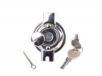 Tanica del serbatoio -QUALITÀ OEM- Vespa V50, V90, SS50, SS90, PV125, ET3 - inox, chiudibile