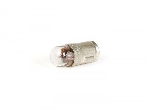 Lampadina -BA7s- 6V 1,2W - bianco- utilizzato per illuminazione contachilometri, per contachilometro a conchiglia con base a baionetta (contachilometri indiani/repro)