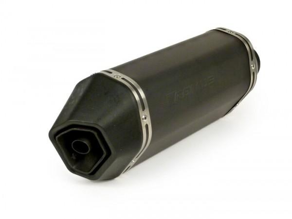 Silencer -REMUS- Ø=55mm, Euro3 (-2016) - Vespa LX 125-150ie 3V, Vespa S 125-150ie 3V, Vespa Primavera 125-150ie 3V, Vespa Sprint 125-150ie 3V, Vespa 946 -  black stainless steel