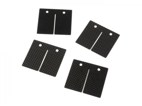 Láminas -MALOSSI MHR VL17- Vespa Largeframe, Smallframe, Minarelli AM6 - carbono (0.3, 0.35, 0.4mm)