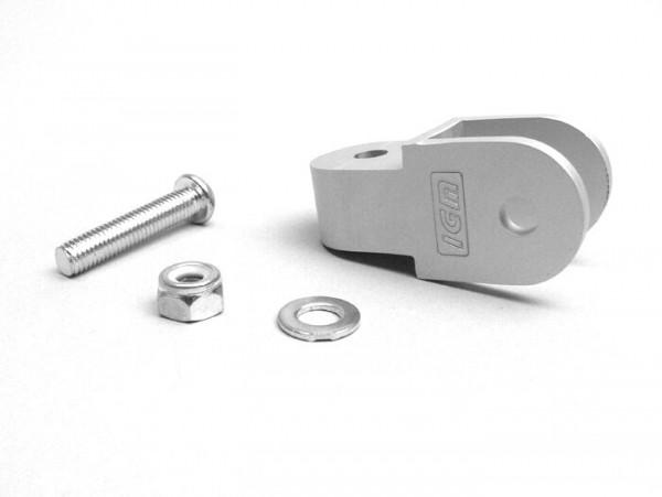 Shock absorber raiser -OEM QUALITY- 40mm (M8 x 20mm, type Minarelli 50) - silver