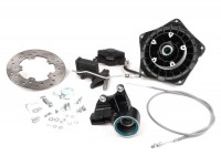 Disc brake set -GRIMECA Classic NT Ø=20mm- Vespa PX (since 1982), T5 125cc, PK XL - semi hydraulic - schwarz