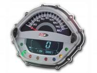 Tachimetro - Contagiri -SIP- Vespa GT/GTL 125-200, GTS125 (Vergasermodelle) - 160 (km/h, mph), 16.000(U/min, rpm) - argento