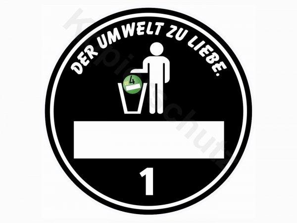"Aufkleber -Ø 80mm- ""Umweltplakette Umwelt"""