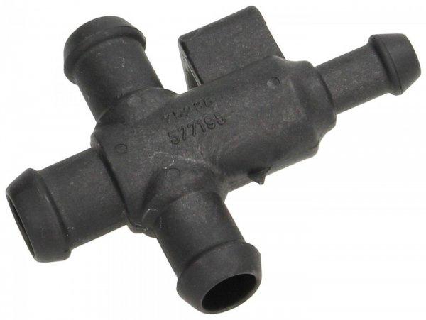 Radiator hose connector, upper T-piece -PIAGGIO- Vespa GT 250 (ZAPM45102), Vespa GT L 125 (ZAPM31100, ZAPM31101), Vespa GT L 200 (ZAPM31200), Vespa GTS 125 (ZAPM31300), Vespa GTS 250 (ZAPM45100, ZAPM45101), Vespa GTS 300 (ZAPM45200, ZAPM45202, ZAPMA3