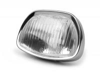 Headlight -SIEM trapezoid- Vespa Sprint150 (VLB1T), GL150 (VLA1T), GT125 (VNL2T), GTR125 (VNL2T), SS180 (VSC1T) - glass, incl. headlight rim