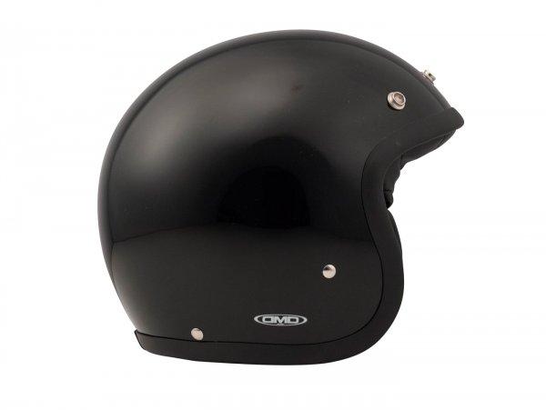 Helmet -DMD Jet Vintage- open face helmet, vintage - Solid Black - XS (53-54cm)