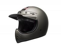 Helmet -BELL MOTO-3 Independent Matte Titanium 17- motocross helmet, grey - S (55-56cm)