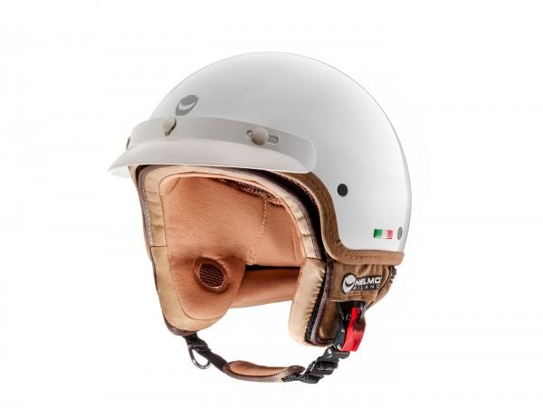 Helm -HELMO MILANO- Demi Jet, FuoriPorta, pearl white - M (57cm)