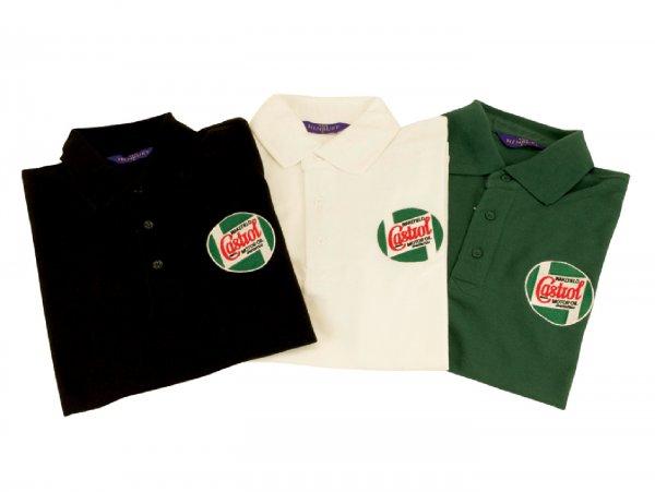 Polo-shirt -CASTROL, Classic- men - green - XXL