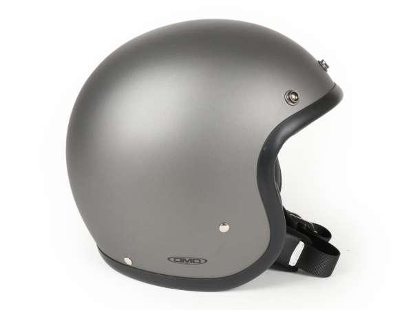 Helmet -DMD Jet Vintage- open face helmet, vintage - Matt Grey - M (57-58cm)