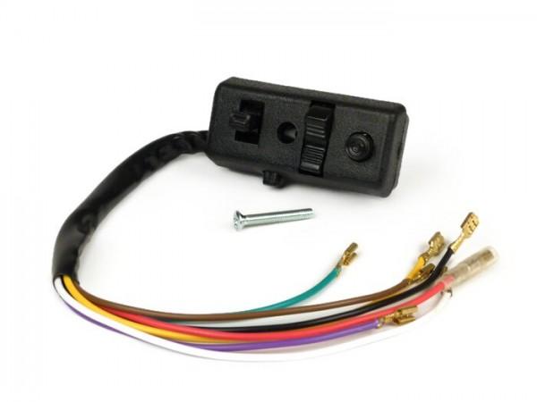 Lichtschalter -VESPA- Vespa P125-150X, P150S, PX150 E (-345648) - 7 Kabel (6V Modelle ohne Blinker, mit Killschalter)