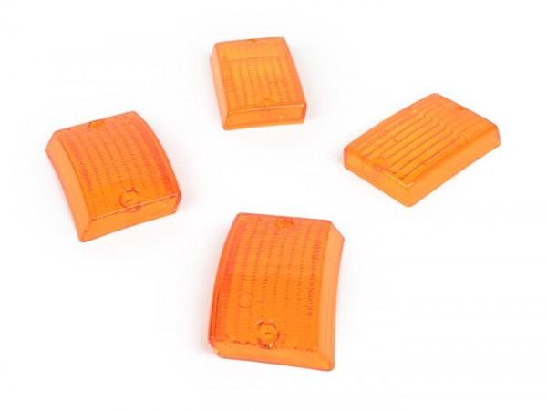 Blinkergläser -BOSATTA 4er Set- Vespa PK50 S, PK80 S, PK125 S - orange
