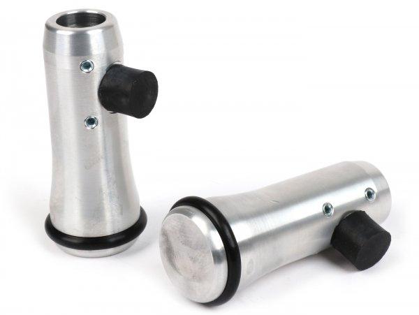 Ständerfüße verlängert -KR Automation Ø= 20mm, +25mm- V50, V90, PV125, ET3, Sprint150, Rally, TS125, GS160 / GS4, SS180, GL150, GT125, GTR125, Super, VNB3T bis VNB6T, VBB1T (ab 17451), VBB2T - Aluminium