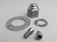 Sicherungs-Set Hinterradmutter -MB DEVELOPMENTS- Lambretta M7- LI (Serie 2-3), LIS, SX, TV (Serie 2-3), DL, GP - Edelstahl