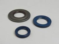 Kit retenes motor -CORTECO- Vespa PX80, PX125, PX150, PX200 Lusso, T5 125cc, Cosa - HR-Retén exterior