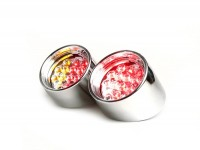 Rücklicht -BGM STYLE Klarglas LED mit Blinkerfunktion - Aprilia SR (ab Bj. 1998) - Chrom