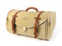 Koffer - Tasche (groß) für Gepäckträger (alternative zum Topcase) -MOTO NOSTRA Classic 'waxed canvas' 480x300x270mm- passend für z.B. Vespa, Lambretta, GTS, GTV, LX/LXV, ET4, S50-150, Sprint, Primavera - 35 Liter - beige